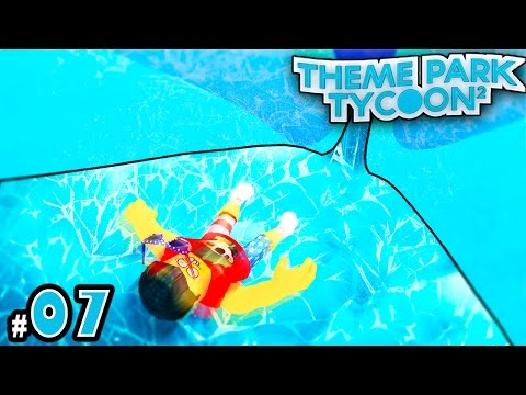 NEW Theme Park Tycoon! Ep. 7: MAKING ICE SLIDES | Roblox