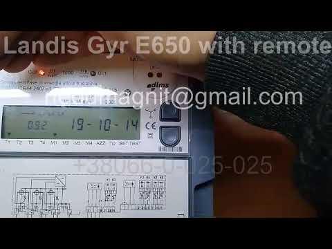 Landis Gyr E650 With Remote Control