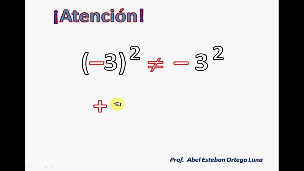 Potenciación De Números Enteros Numeros Enteros Propiedades Matemáticas Secundaria Matematicas