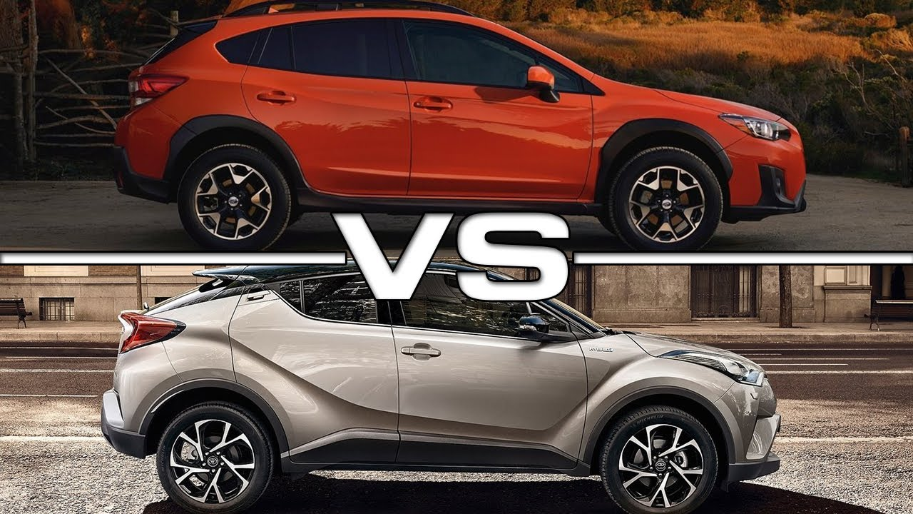 2018 Subaru Crosstrek vs 2017 Toyota C HR - YouTube