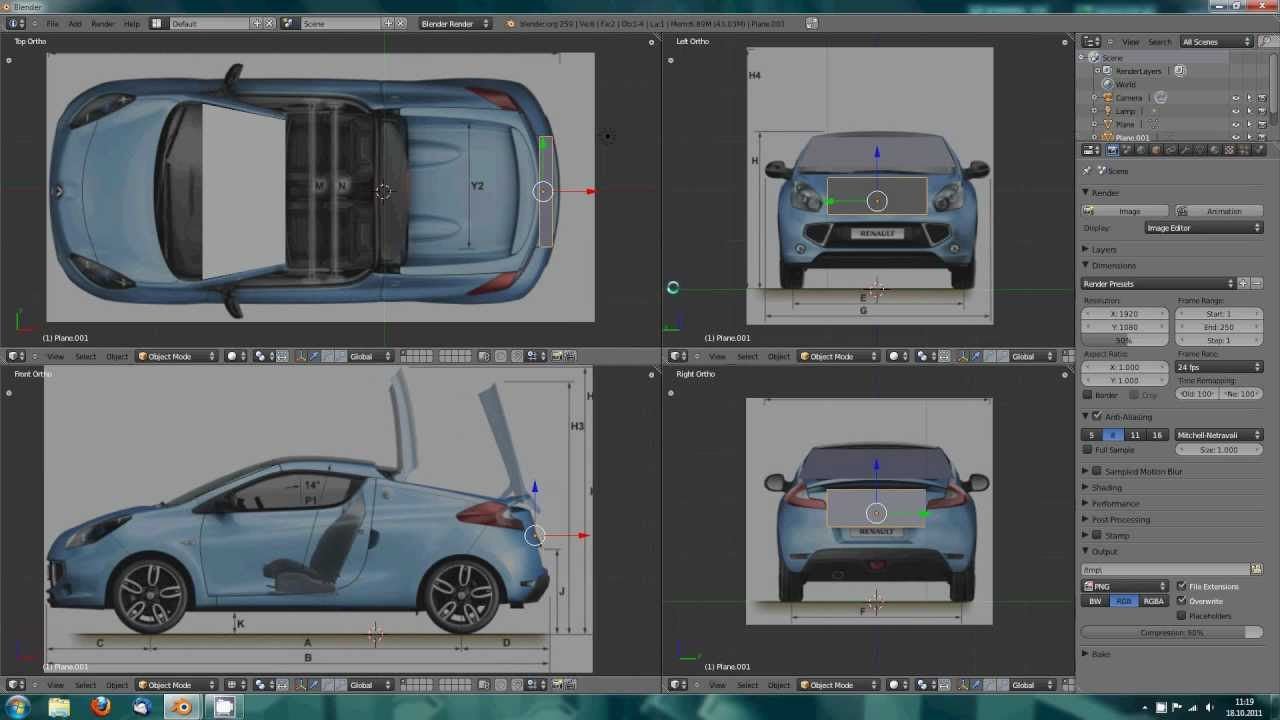 Blender Tutorial: Modelling Teil 1 - Blaupausen ausrichten - YouTube