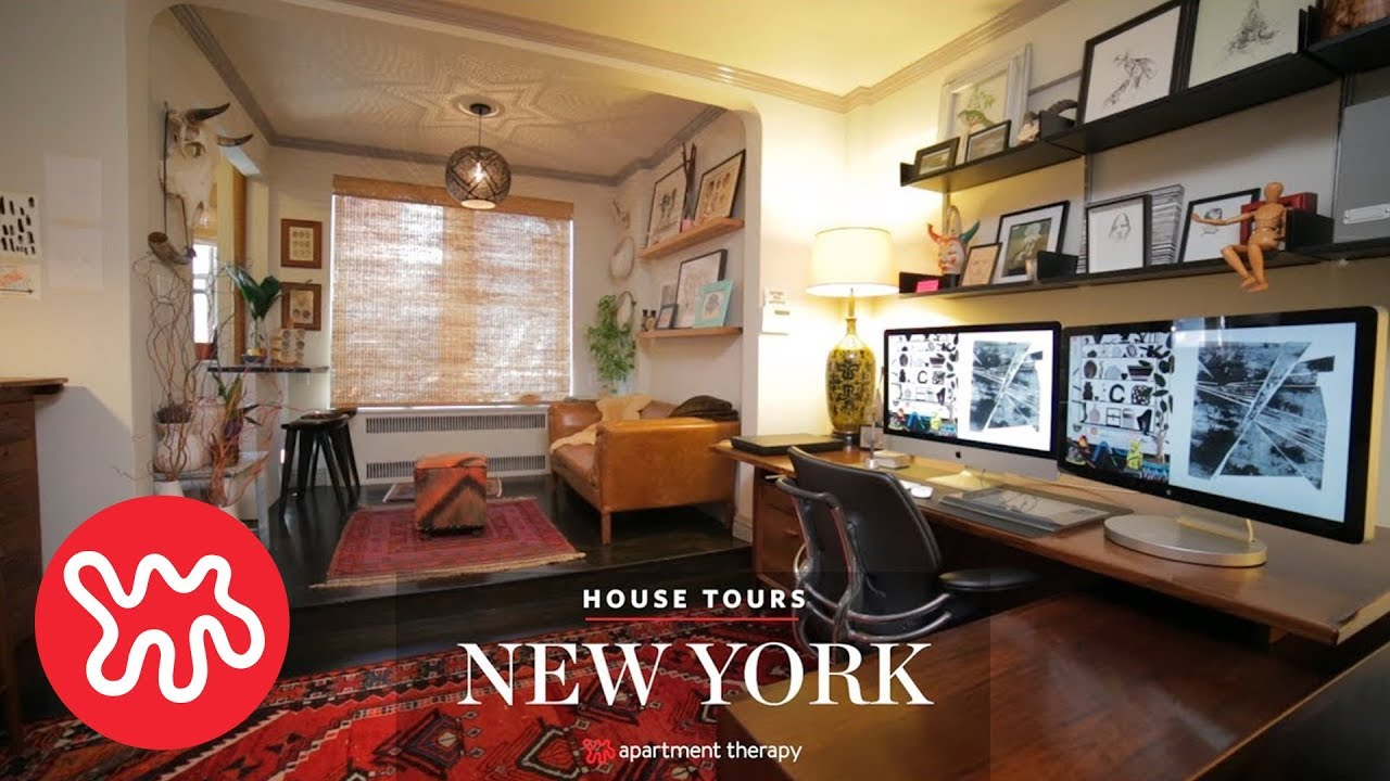 House Tour Sara S Natural Nyc Studio Habitat Apartment Therapy