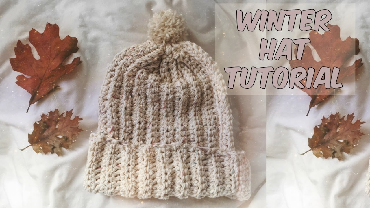 a3ec8461b19 EASY RIBBED HAT TUTORIAL - YouTube