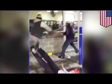 Ils tentent de se défendre, mais se font battre avec leurs propres battes de baseball