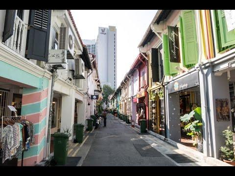 A walk down Haji Lane in Kampong Glam , Singapore