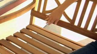 Matera Crossback Wood Porch Swing Natural - Product Review Video