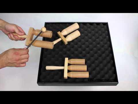 Small Agogo Beech 2 Tone with Beater - 3+ video