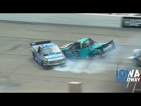 Dan Joyce - Johnny Sauter Wrecks Austin Hill During A Caution At Truck Series Race