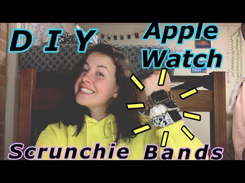 DIY APPLE WATCH SCRUNCHIE BANDS | *EASY*