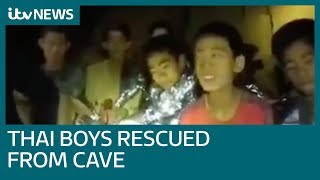 Joy as mission 'impossible' saves boys and coach from Thai cave   ITV News