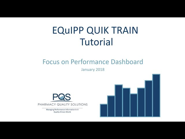 QUIKTRAIN Focus on the EQuIPP Performance Dashboard