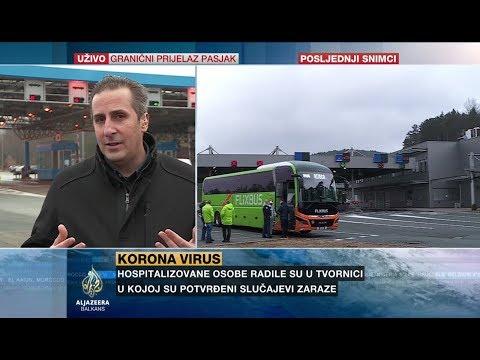 Kontrola Putnika U Autobusu Na Graničnom Prelazu Rupa