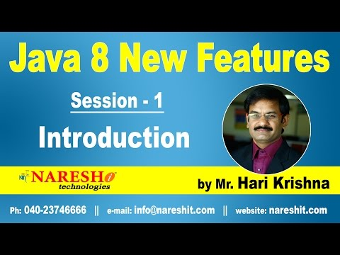 java-8-new-features-introduction-|-session-1-|-java-8-new-features-with-examples-|-mr.-hari-krishna