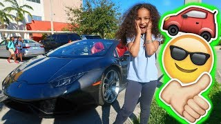 7 YEAR OLD GETS PICKED UP FROM SCHOOL IN A LAMBORGHINI !!!