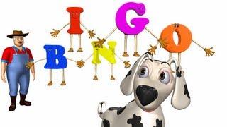 Bingo rhymes for children  - 3D Animation English Nursery rhyme with lyrics