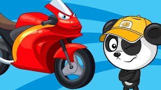 Мультик Про Машинки и Цветные Мотоциклы – Веселые Песенки и Развивающие Мультфильмы Для Детей