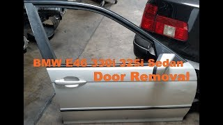 BMW E46 3-Series Sedan Exterior Door Removal 330i 325i