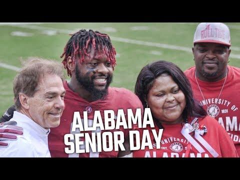 Nick Saban honors Alabama's 2017 seniors prior to final home game