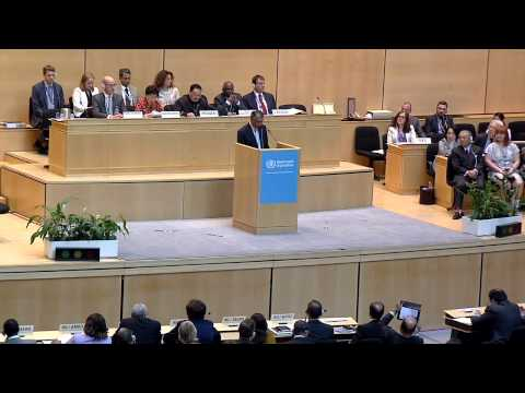 WHO: WHA68 -  World Health Assembly awards public health champions
