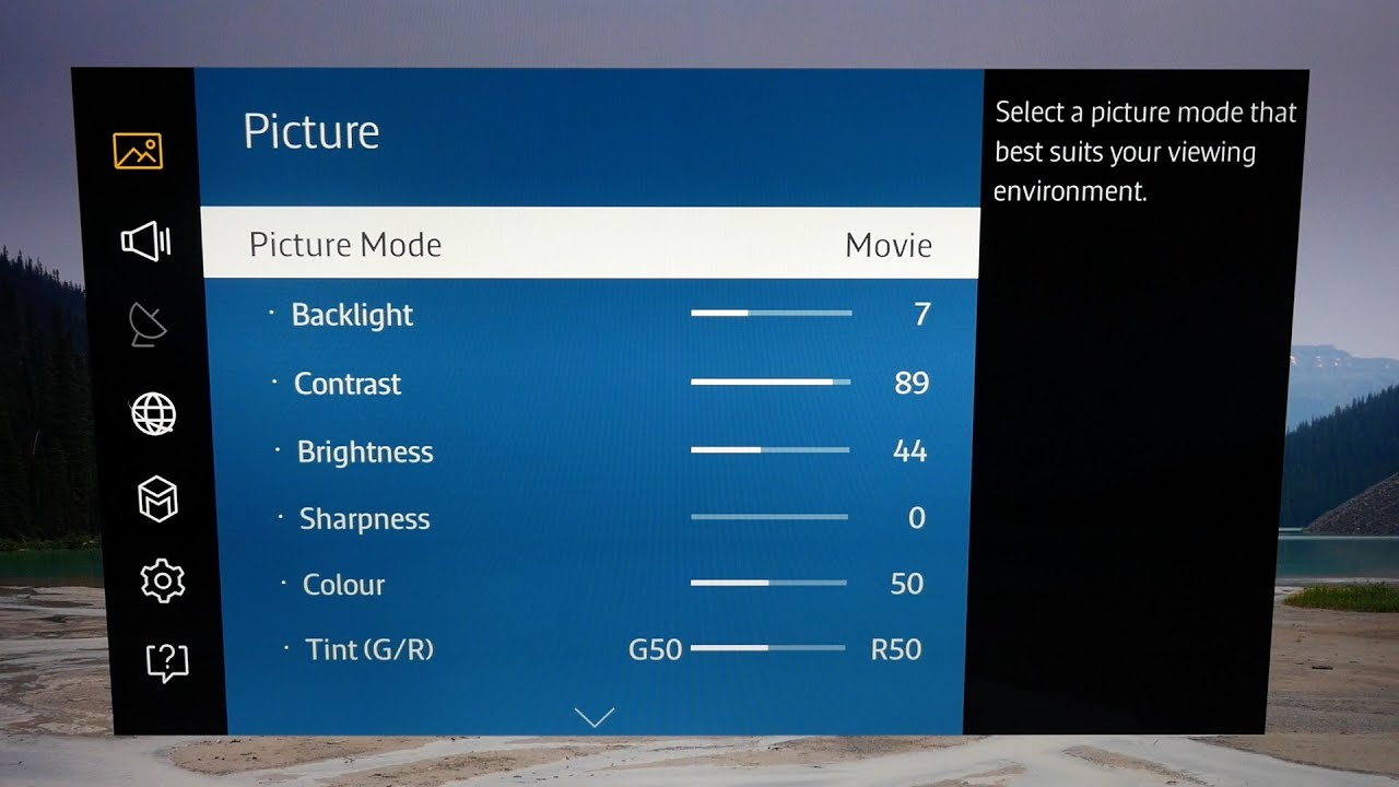 Picture Settings For Samsung Ue40ju6400 4k Tv Youtube