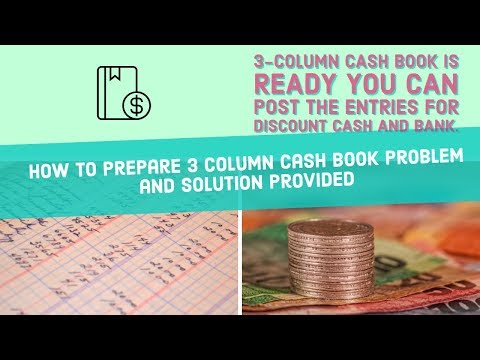 Accounting basics How to prepare Three 3 Column(Discount|Cash|Bank) Cash Book