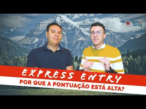 Por que a pontuação do Express Entry não está baixando?