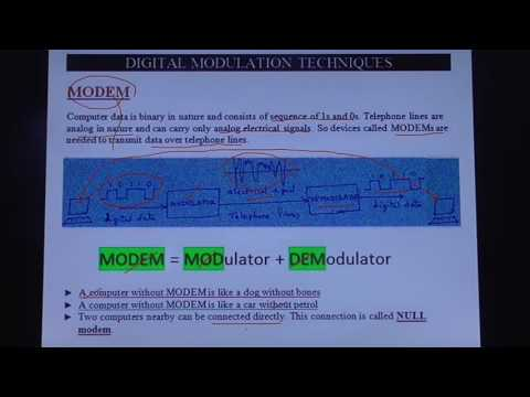 modem modulator demodulator