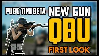 New Gun QBU FIRST LOOK! Holograms, Structures and Rock CAMO | PUBG MOBILE BETA TIMI studios