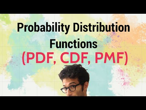 Probability Distribution Functions (PMF, PDF, CDF)
