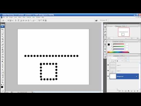 Photoshop Tutorial - Episode 25 - Dotted/Dashed Line