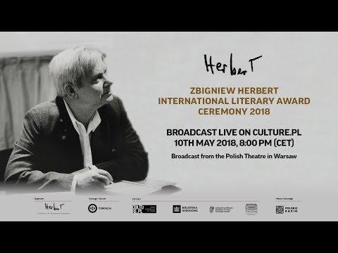 Live streaming. Zbigniew Herbert International Literary Award Ceremony 2018
