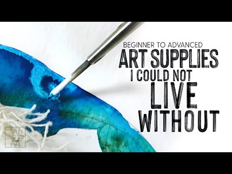 Art Supplies I Couldn't Live Without - Beginner To Advanced Watercolor Supplies