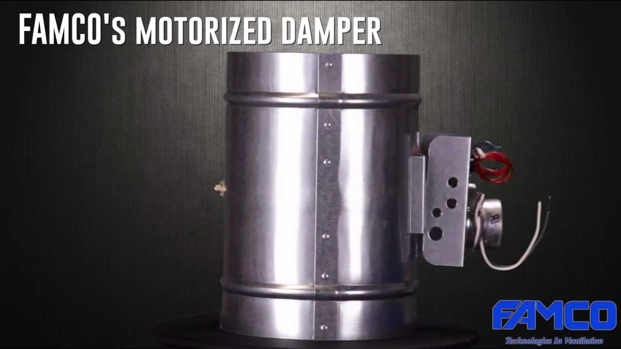 Motorized Damper Hvac Dampers By Famco Manufacturing