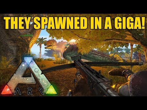 THEY SPAWNED IN A GIGA (+ NEW ANTI-GRIEFER BASE!) - Ark Survival Evolved