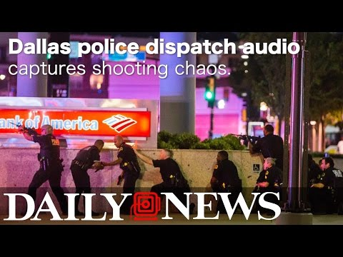 AUDIO: Dallas police hunt gunmen, help wounded officers