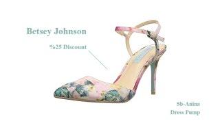 betsey johnson women s sb anina dress pump 25 discount