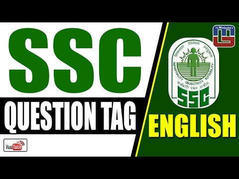 SSC | QUESTION TAG | ENGLISH