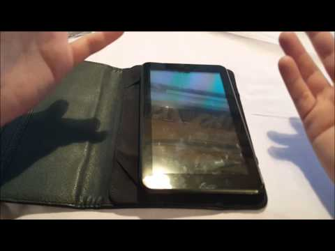 iDeaUSA 7 inch Tablet Cover Portfolio Protective Leather Case Video Review