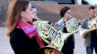 the australian world orchestra horns play waltzing matilda on sarah s music