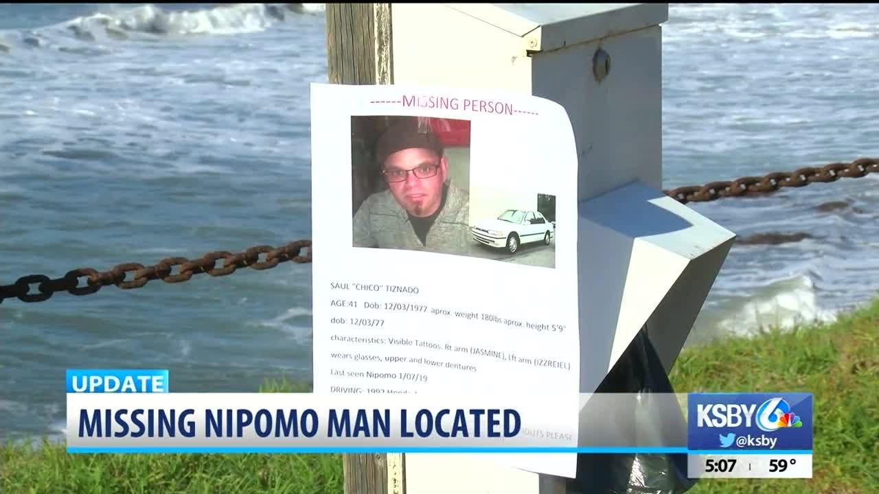 Nipomo man reported missing found in Santa Maria