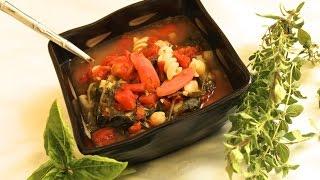Italian Minestrone Soup. Loaded With Fresh Veggies (italian)