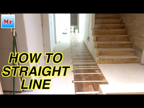 Hardwood Floor Installation On Concrete How To Make A Straight Line | MrYoucandoityourself
