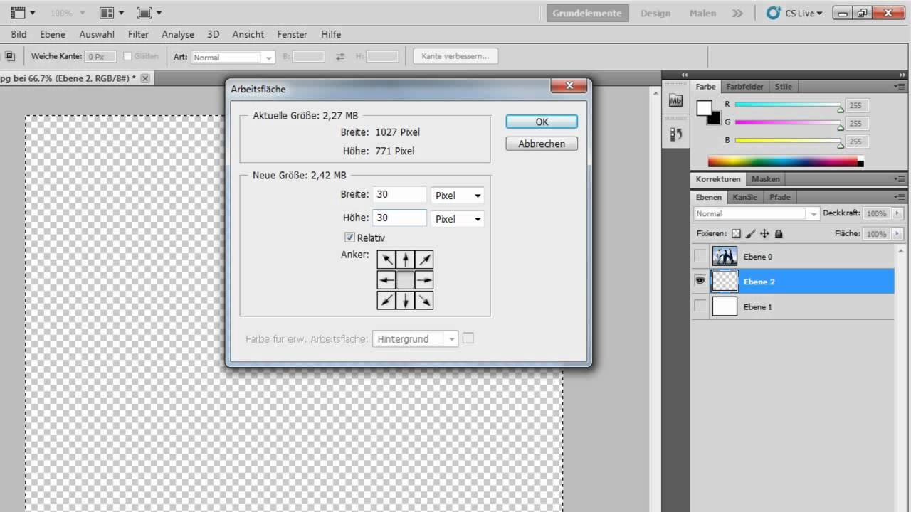 Photoshop CS5 - Auf die Schnelle einen Rahmen erstellen - YouTube