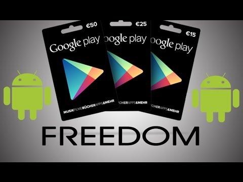 [Freedom] Tarjetas GRATIS para hacer compras por la google play ||AndroidStudios - YouTube