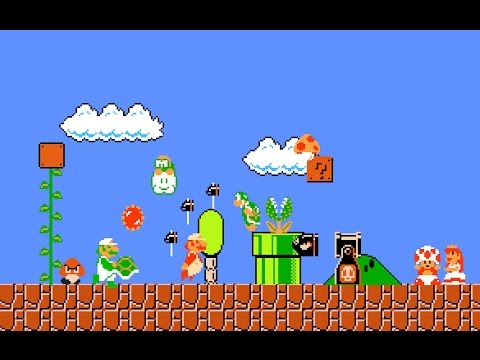 Super Mario Flash 2 - Boom boom's Airship [Costum Level]