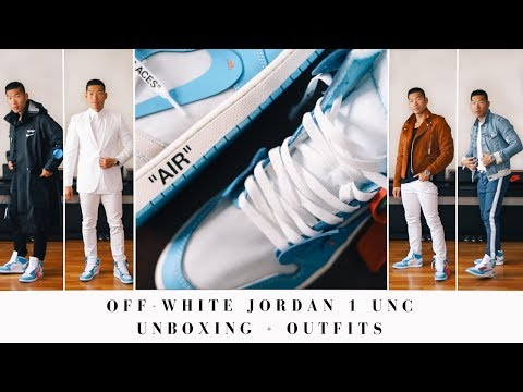 Off-White Jordan 1 UNC Unboxing + Outfits | Men's Street Style