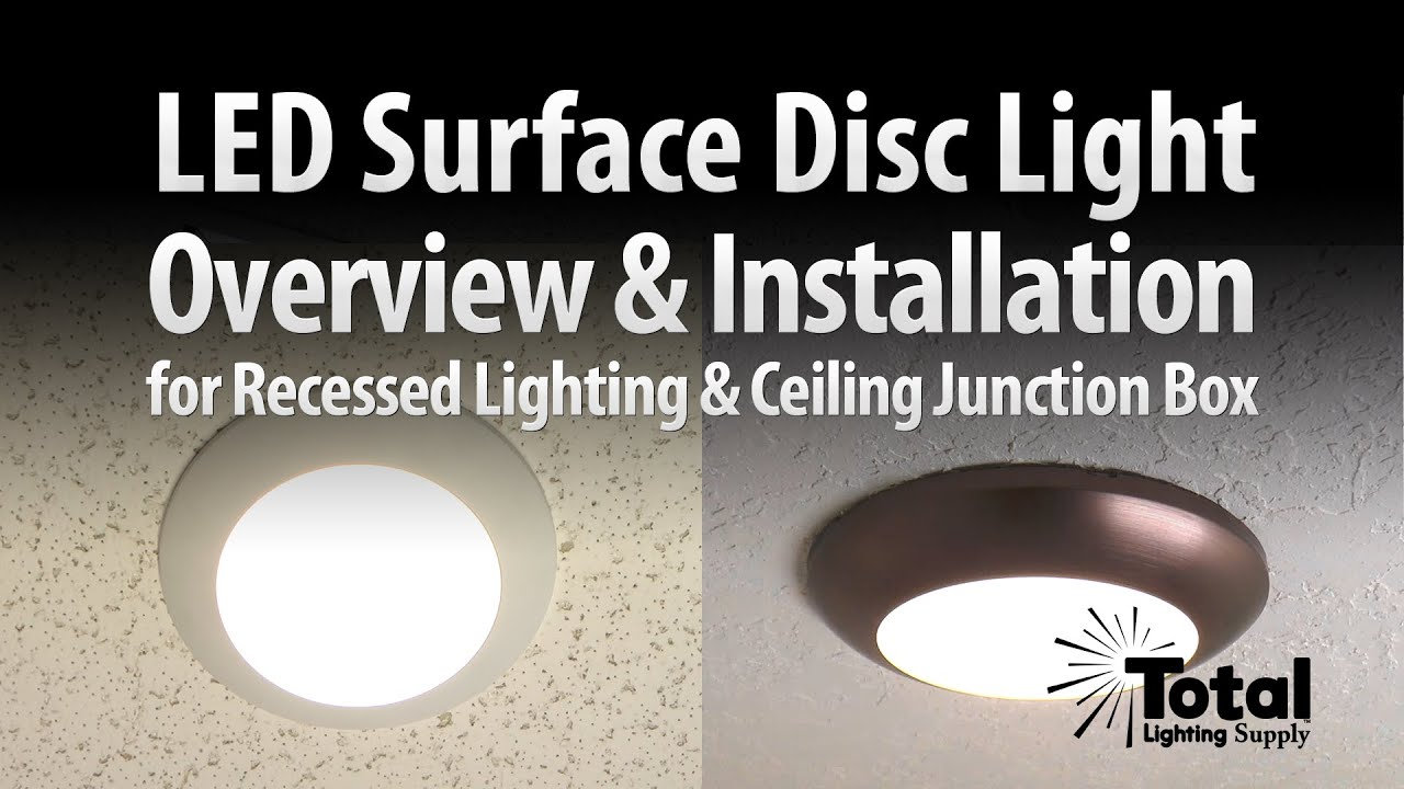 Sylvania Ultra LED Disc Light Overview u0026 Installation by Total Recessed Lighting - YouTube