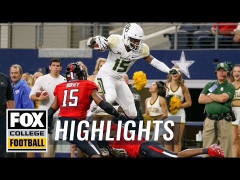 Baylor vs. Texas Tech | FOX COLLEGE FOOTBALL HIGHLIGHTS