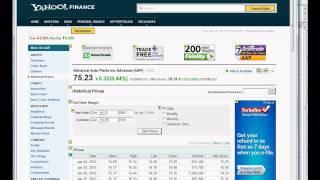 Link Yahoo Finance Stock Data to Excel Worksheet