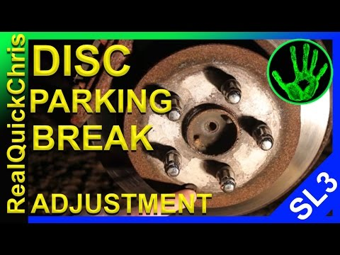Disc parking brake adjustment a how to DIY